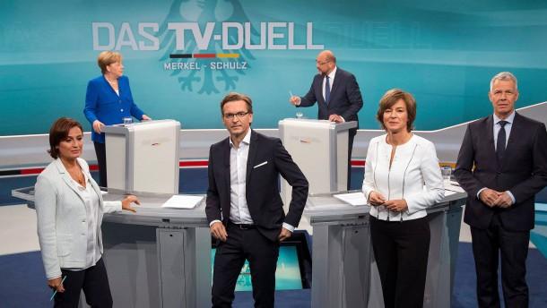 Das Fernsehduell zur Wahl