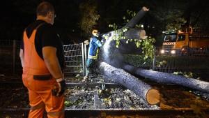 Große Schäden durch Unwetter in Deutschland