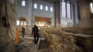 Fundgrube: Seit Sommer 2013 wird in der früheren Mainzer Kathedrale gegraben und geforscht.