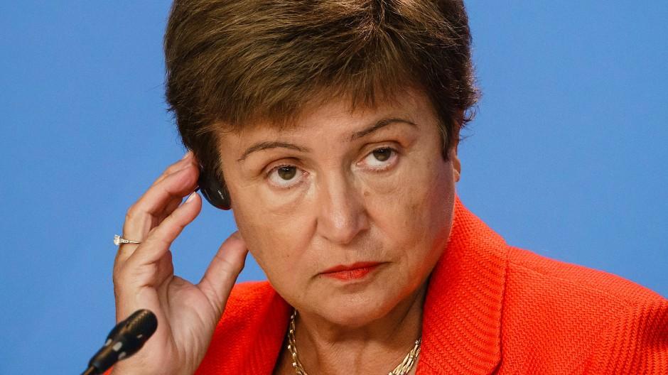 Die Chefin des Internationalen Währungsfonds, Kristalina Georgiewa
