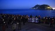 Solidarität mit den Mördern: Demonstranten in San Sebastian fordern die Freilassung von Eta-Häftlingen.