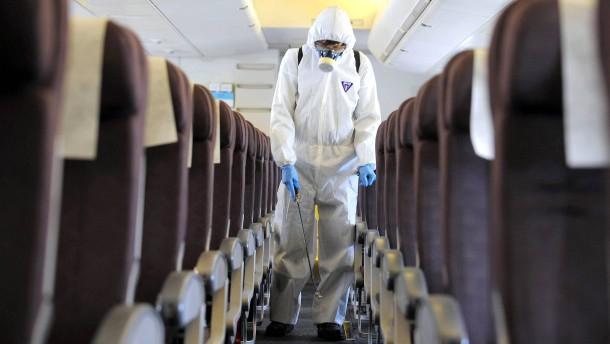 Grippe auf Reisen