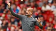 Zum Saisonauftakt setzte Pep Guardiola mit Manchester City mit einem 2:0-Erfolg gegen den FC Arsenal gleich ein Ausrufezeichen.