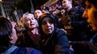 Kurden bei einer Demonstration in Istanbul.