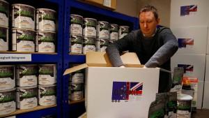 Die Briten hamstern für den Brexit