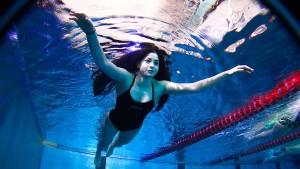 Frei geschwommen