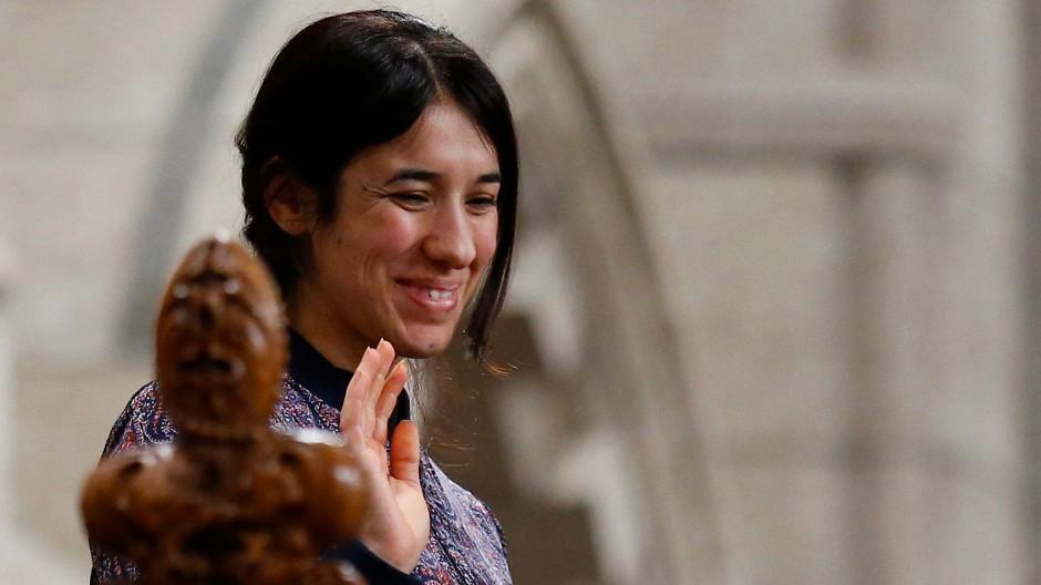 Nadia Murad Basee - eine der beiden diesjährigen Sacharow-Preisträgerinnen