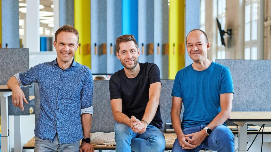 Das Gründer-Trio von Staffbase: Frank Wolf, Martin Böhringer und Lutz Gerlach (von links)