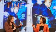 """Sandra Maischberger diskutierte zum Thema """"Trump, Le Pen & Co: Sind die Nationalisten entzaubert?"""". unter anderem mit ARD-Börsenexpertin Anja Kohl."""