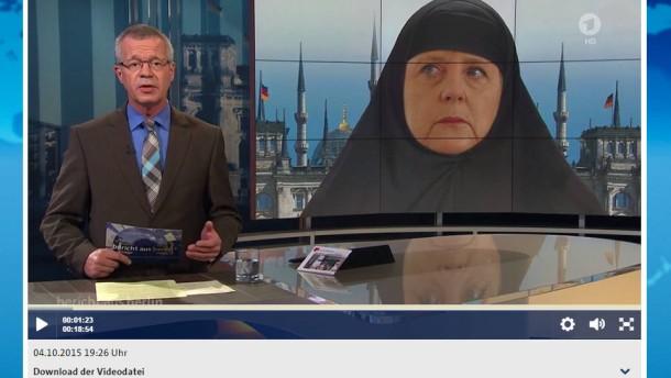 Dans la presse allemande  Merkel-im-tschador-minarette