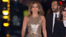 Zwei Stars, ein Kleidungsstück: Jennifer Lopez im Glitzerjumpsuit von Michael Kors