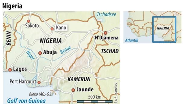 Infografik / Karte / Nigeria