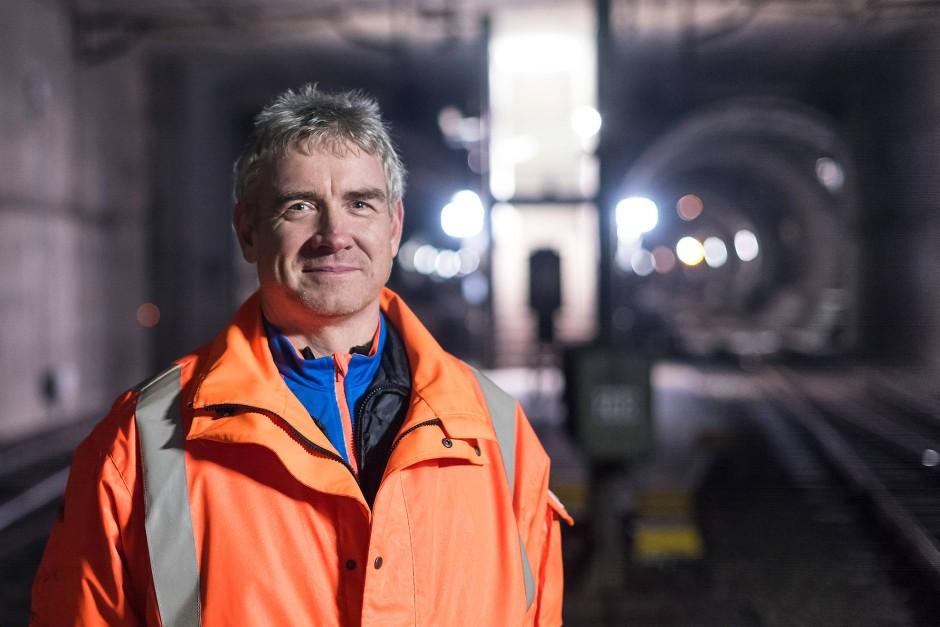 Herr der Baustelle: Projektleiter Matthias Körner, Ingenieur für Automatisierungstechnik