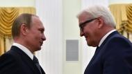 Auf Augenhöhe? Wladimir Putin und Frank-Walter Steinmeier