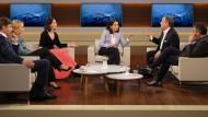 Anne Will diskutiert mit ihren Gästen über die Konsequenzen der Europawahl