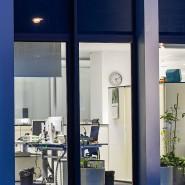 Ist da noch jemand? Einblick in einen Büroturm in Frankfurt