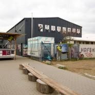 Nach draußen verlegt: Der Hafen 2 in Offenbach hat seine Freiluft-Bühne bespielt.