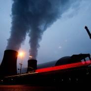 Das Atomkraftwerk Grohnde in Niedersachsen