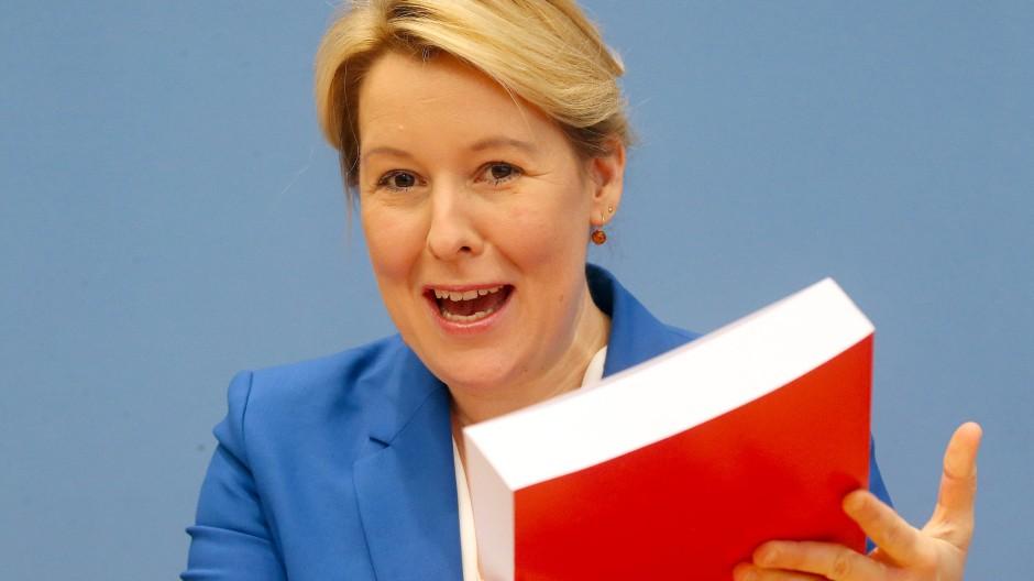 Scheinbar verzichtsbereit: Bundesministerin Franziska Giffey