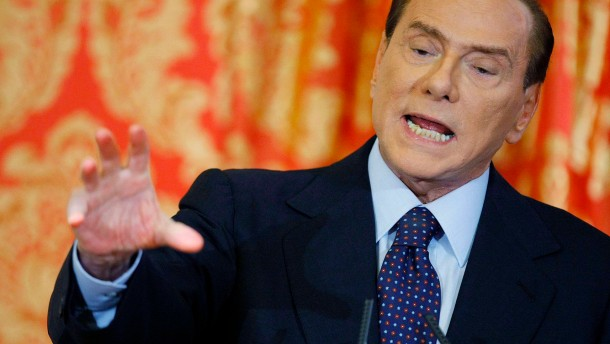 File photo of Italy's former PM Berlusconi speaking during a news conference at Villa Gernetto in Gerno