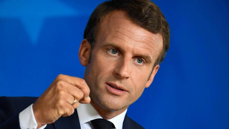 Der französische Präsident Macron fordert mehr europäische Solidarität in der Corona-Krise.