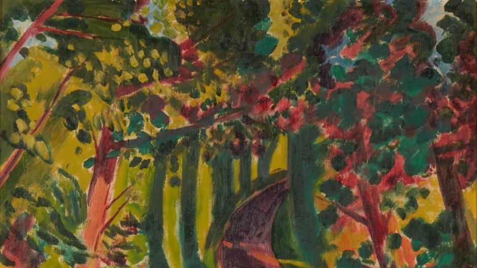"""Zuschlag bei 190.000 Euro: Max Pechstein, """"Herbstschatten"""", 1921, Öl auf Leinwand, 139,7 mal 119,3 Zentimeter."""
