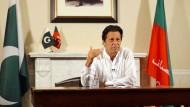 Imran Khan in einer Ansprache an die Wähler
