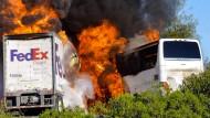 Mindestens neun Tote bei Busunfall in Kalifornien