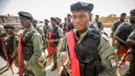 Auszubildende Polizisten der nigrischen Grenzschutzkompanie Anfang Mai.
