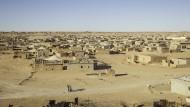 Blick auf das Flüchtlingslager El Aaiún im Süden Algeriens
