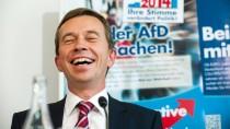 Hat nach den Wahlerfolgen gut lachen: Der Parteivorsitzende der AfD, Bernd Lucke