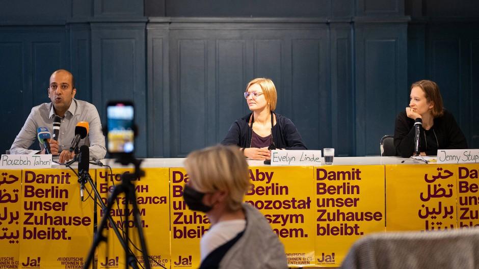 """Pressekonferenz der Initiative """"Deutsche Wohnen und Co. enteignen"""" am Montag in Berlin"""