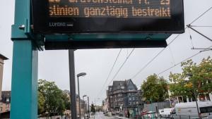 Warnstreiks legen vielerorts Busverkehr in Hessen lahm