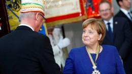 Merkel versucht ein Wortspiel