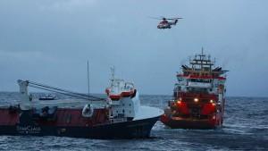 Verlassener Frachter vor Norwegen gesichert