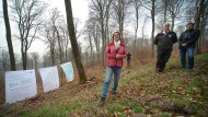 Stillgelegt: Ministerin Priska Hinz stellt ein Waldstück bei Wiesbaden vor, das sich selbst überlassen bleibt.
