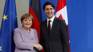 Kanadas Premier sucht die Nähe zu Merkel