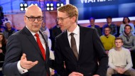 Bleibt Ministerpräsident Torsten Albig (SPD, links) an der Macht? Oder gelingt CDU-Herausforderer Daniel Günther der Machtwechsel?