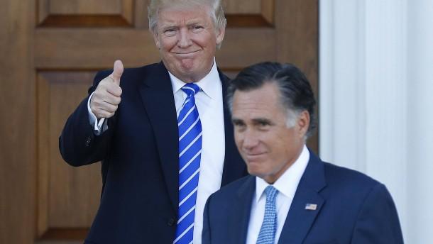 Trump-Anhänger wollen Außenminister Romney verhindern