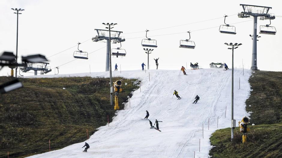 In Finnland ist die Skisaison schon eröffnet.