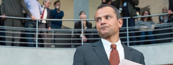 Sebastian Edathy am Donnerstag vor dem Untersuchungsausschuss in Berlin