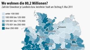 Infografik / Zensus Deutschland / Wo wohnen die 80, 2 Millionen?