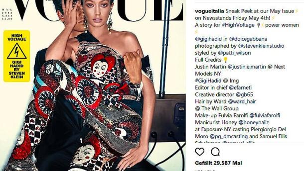 """Gigi Hadid entschuldigt sich für """"Vogue""""-Coverfoto"""
