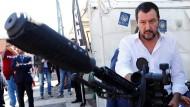 Der italienische Innenminister Matteo Salvini im Oktober bei einer Feier zum Jubiläum einer Spezialeinheit der römischen Polizei