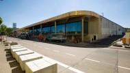 Vor der Fertigstellung: das neue Einkaufszentrum im Hanauer Stadtteil Steinheim