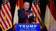 Donald Trump auf einer Wahlkampfveranstaltung am 5. Juli in Raleigh, North Carolina