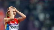 Autsch: Der Verband der Hochspringerin Anna Chicherova bleibt gesperrt.