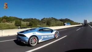 Dienst-Lamborghini bei der italienischen Polizei