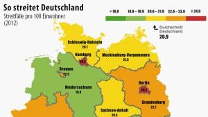 Berliner streiten am häufigsten