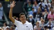 Hallo, Halbfinale! Milos Raonic hat in Wimbledon Chance auf den großen Titel.